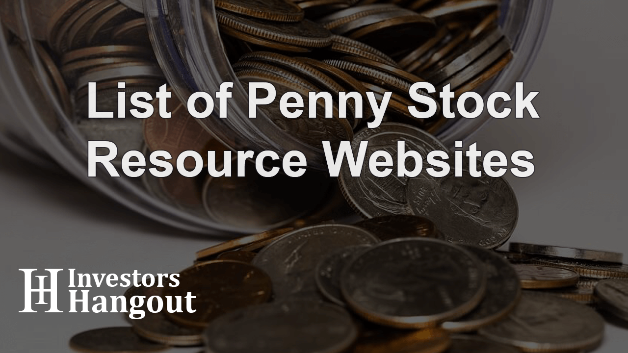 List of Penny Stock Resource Websites